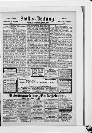 Volks-Zeitung vom 09.02.1899