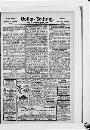 Volks-Zeitung vom 10.02.1899