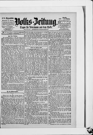 Volks-Zeitung vom 11.02.1899