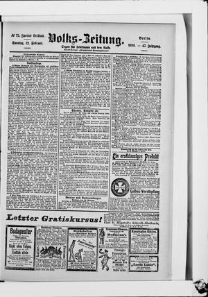 Volks-Zeitung vom 12.02.1899