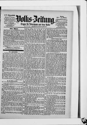 Volks-Zeitung on Feb 15, 1899