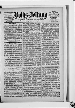 Volks-Zeitung vom 16.02.1899