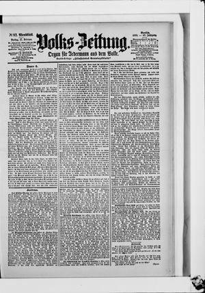 Volks-Zeitung vom 17.02.1899