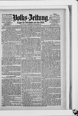 Volks-Zeitung vom 18.02.1899