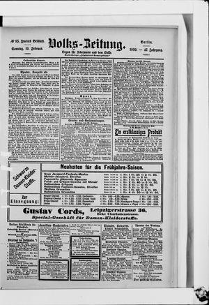 Volks-Zeitung vom 19.02.1899
