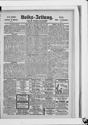 Volks-Zeitung vom 21.02.1899