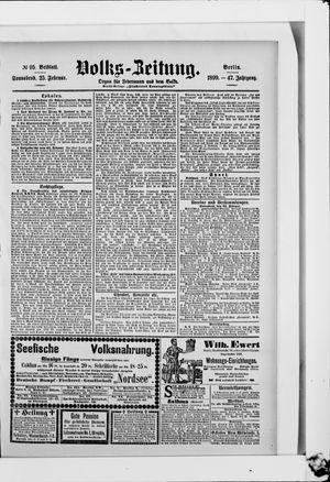 Volks-Zeitung vom 25.02.1899