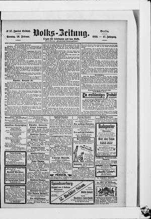 Volks-Zeitung vom 26.02.1899