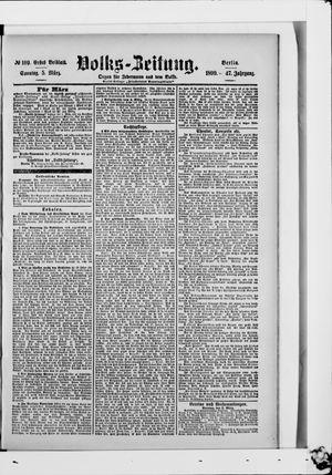 Volks-Zeitung vom 05.03.1899