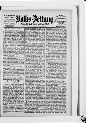 Volks-Zeitung vom 08.03.1899