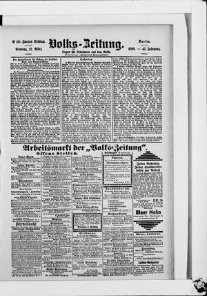 Volks-Zeitung vom 12.03.1899
