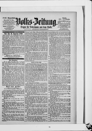 Volks-Zeitung on Mar 16, 1899