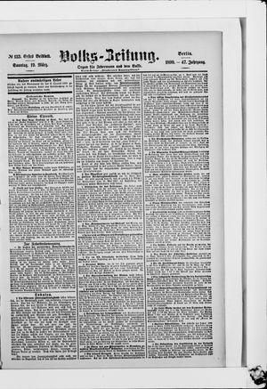 Volks-Zeitung on Mar 19, 1899