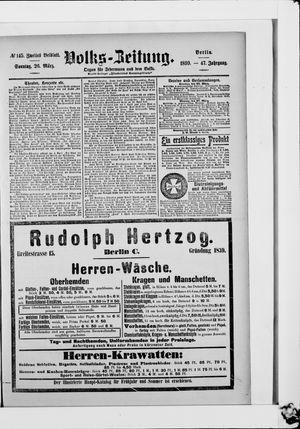Volks-Zeitung vom 26.03.1899