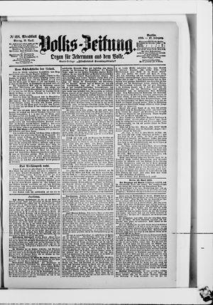 Volks-Zeitung vom 10.04.1899