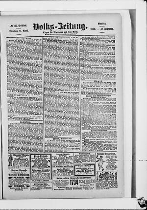 Volks-Zeitung vom 11.04.1899