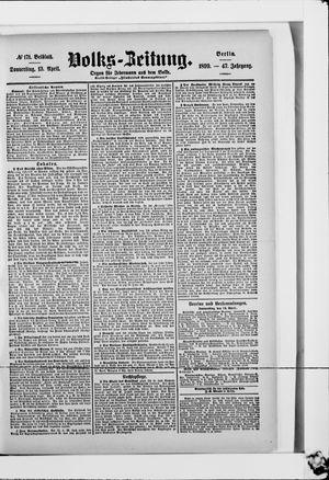 Volks-Zeitung vom 13.04.1899