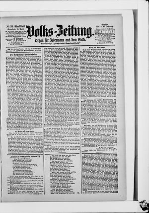 Volks-Zeitung vom 15.04.1899