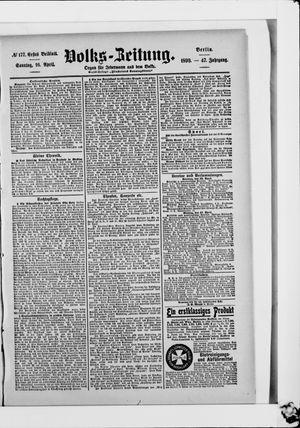 Volks-Zeitung vom 16.04.1899
