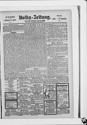 Volks-Zeitung vom 18.04.1899