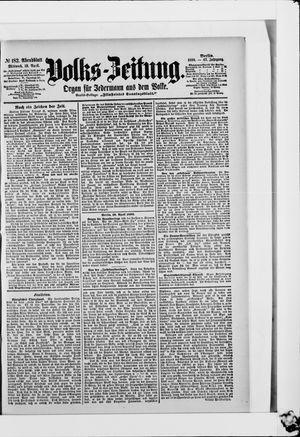 Volks-Zeitung vom 19.04.1899