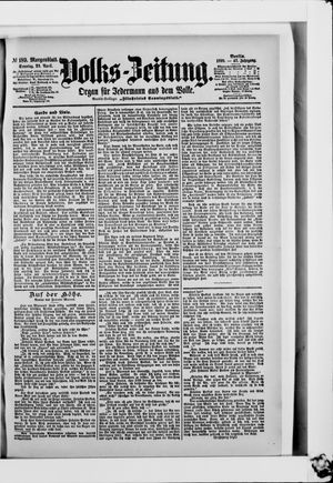 Volks-Zeitung vom 23.04.1899