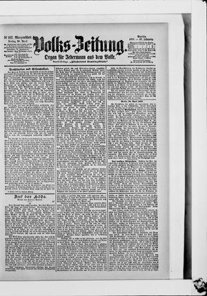 Volks-Zeitung vom 28.04.1899
