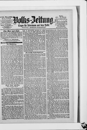Volks-Zeitung vom 30.04.1899