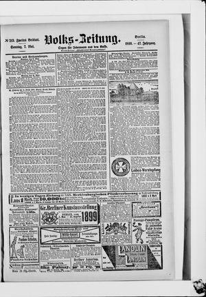 Volks-Zeitung vom 07.05.1899