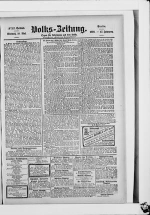 Volks-Zeitung vom 10.05.1899