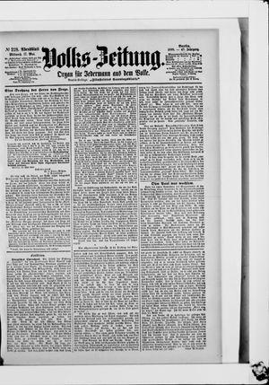 Volks-Zeitung vom 17.05.1899