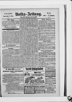 Volks-Zeitung vom 18.05.1899
