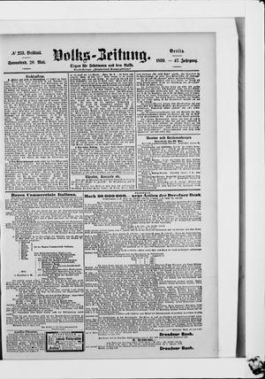 Volks-Zeitung vom 20.05.1899