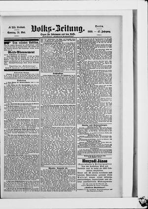 Volks-Zeitung vom 21.05.1899