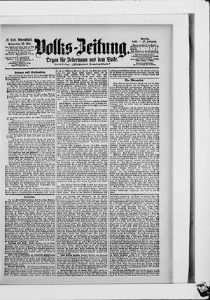 Volks-Zeitung vom 25.05.1899