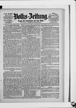 Volks-Zeitung vom 29.05.1899