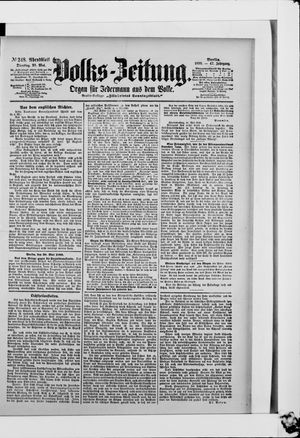 Volks-Zeitung on May 30, 1899