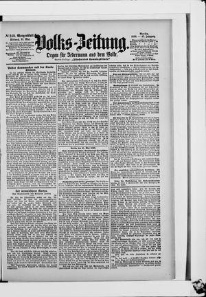 Volks-Zeitung vom 31.05.1899