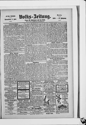 Volks-Zeitung vom 03.06.1899