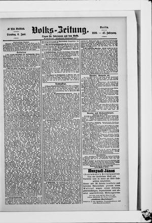 Volks-Zeitung vom 06.06.1899