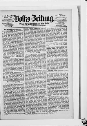 Volks-Zeitung vom 07.06.1899