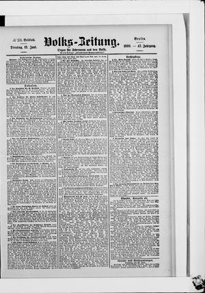 Volks-Zeitung vom 13.06.1899