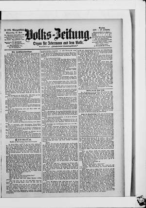 Volks-Zeitung vom 15.06.1899