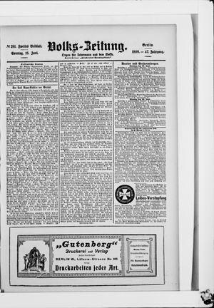 Volks-Zeitung vom 18.06.1899