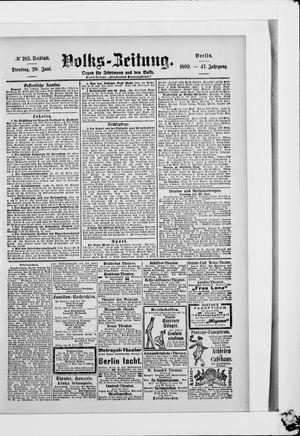 Volks-Zeitung vom 20.06.1899