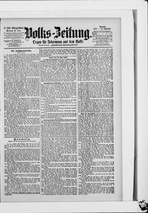 Volks-Zeitung vom 21.06.1899