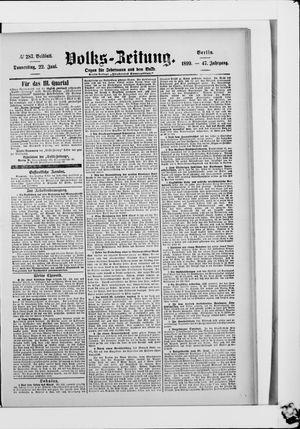 Volks-Zeitung vom 22.06.1899