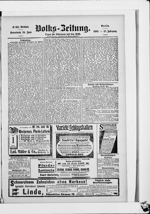 Volks-Zeitung vom 24.06.1899
