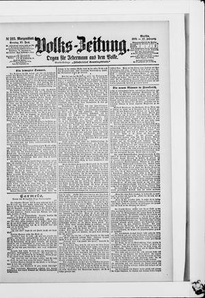 Volks-Zeitung vom 25.06.1899