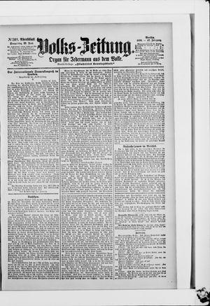 Volks-Zeitung vom 29.06.1899